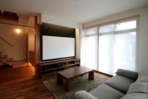<ホームシアター>親世帯との界壁に防音施工もしており、ホームシアターを楽しんでいます。
