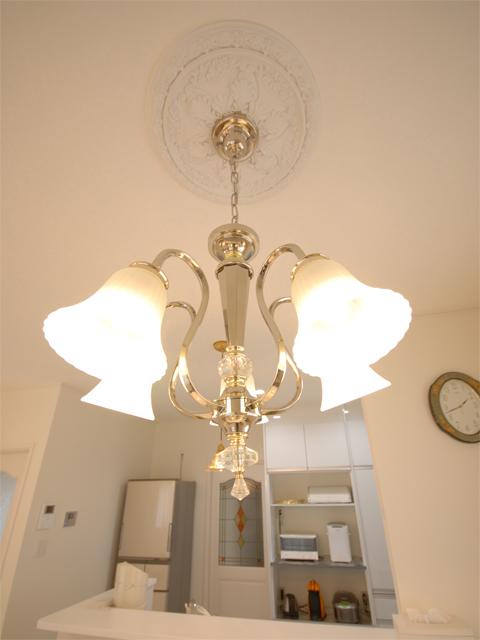 インテリアにもこだわった室内。置かれている家具や照明は、施主様のセンスの賜物。