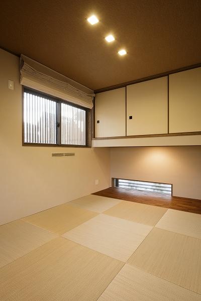 和室は玄関からも直接入ることができる