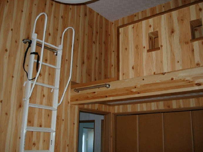 外張断熱を取り入れているので、小屋裏などのデッドスペースを有効に利用した、ロフトを採用。