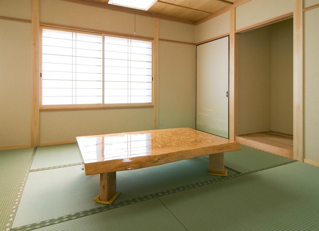 LDKとつながった和室。