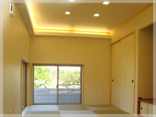 お施主様がとことんこだわった和室!間接照明の光が心地よいですね。
