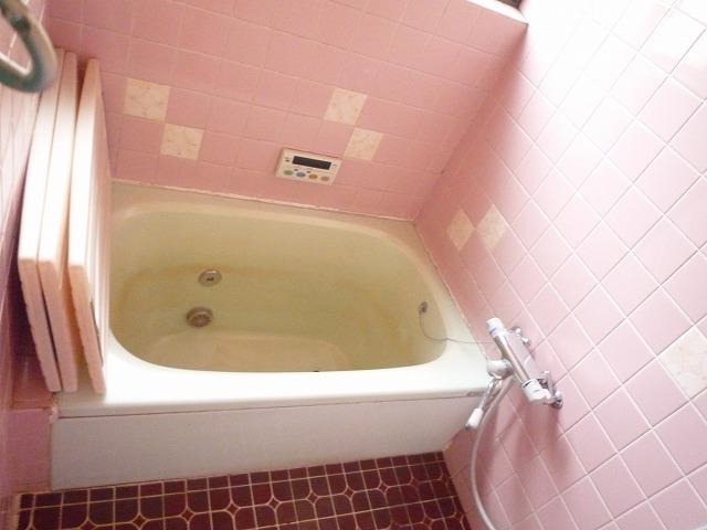 タイル張りで、冬は寒々しく浴槽も深く危険でした。