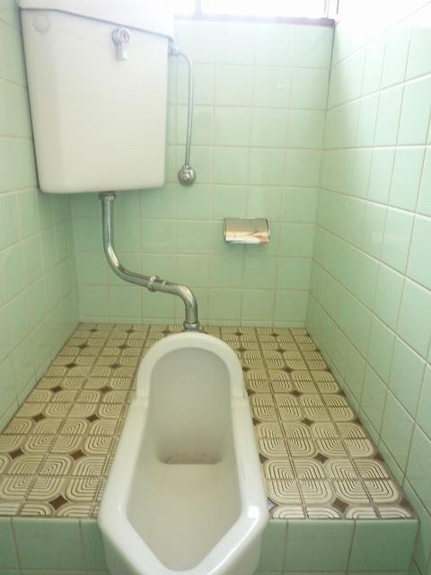 床はタイルで段差もある昔ながらのトイレでした。