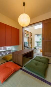 リビング横にある和室。玄関とも繋がっており、客間や茶の間など多目的に使えるスペースです
