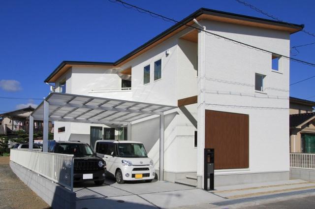 サンキョウハウジング 株式会社 「シンプルモダンな佇まいの家」