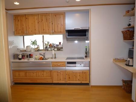 施工後:キッチン。