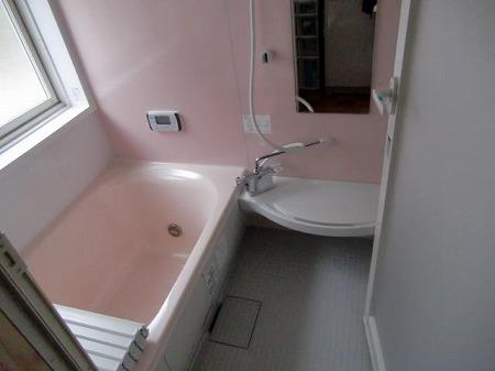 施工後:浴室。