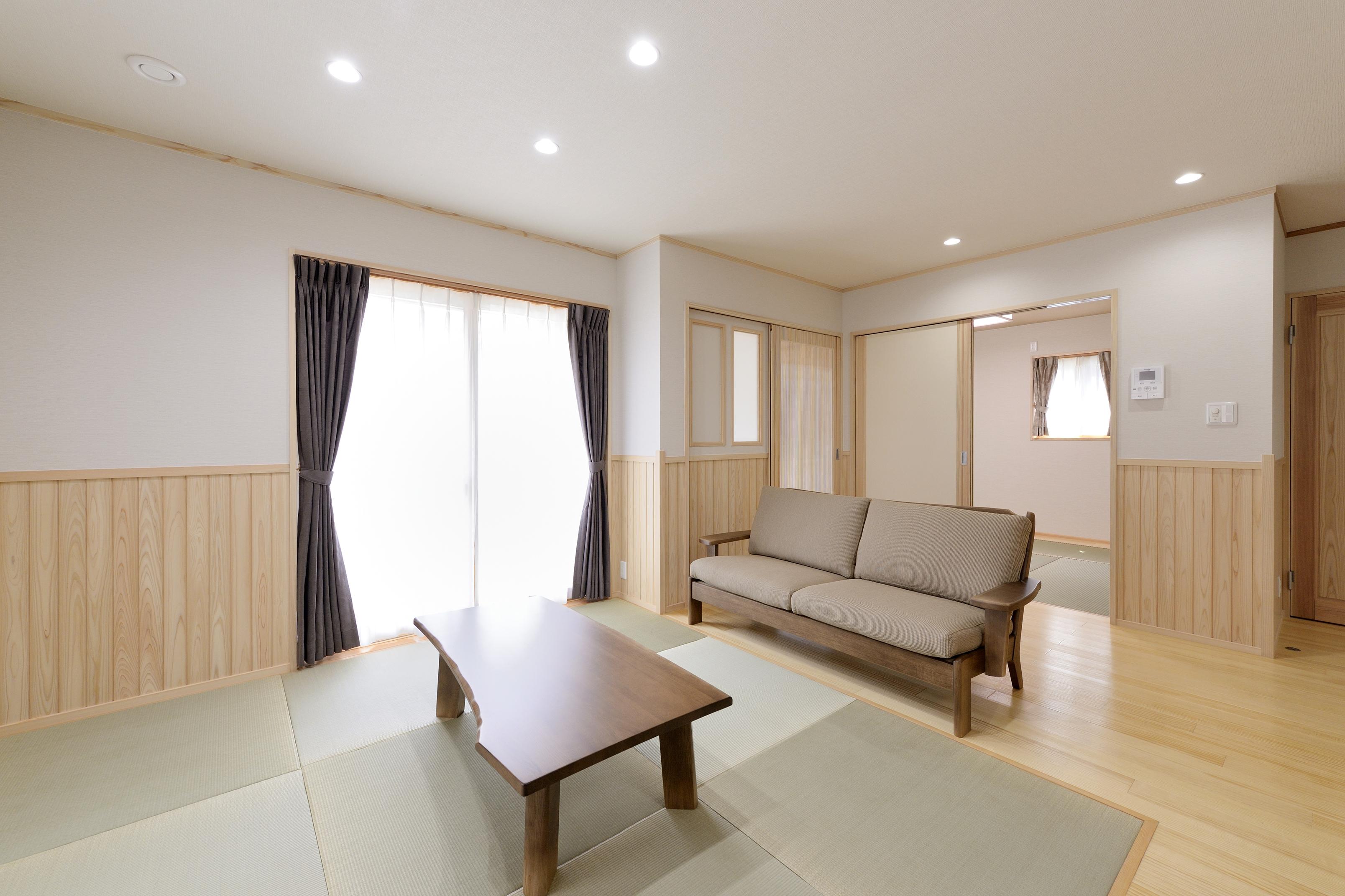 LDKの一角には畳スペース。