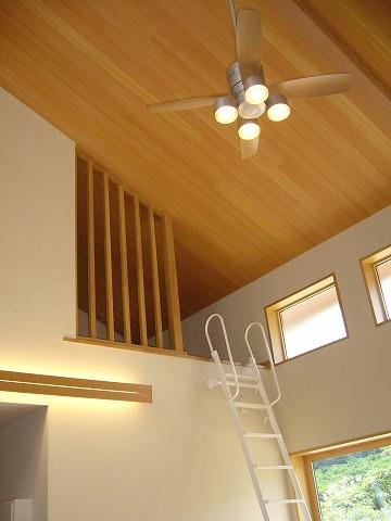 リビング上部には勾配天井を利用して、お子様とご主人様憧れのロフトがあります。
